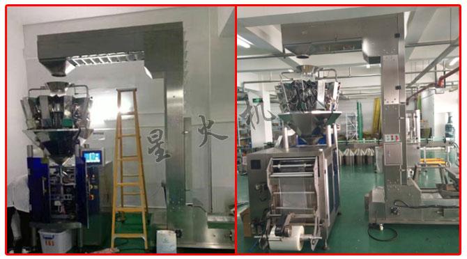 星火厂房牛肉丸自动包装机设备展示