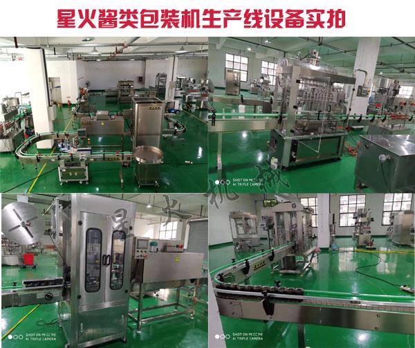 酱类包装机生产线设备-小型酱类食品包装机流水线厂家实拍