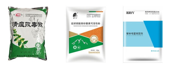 粉剂兽药自动化包装机-粉剂兽药包装生产线样品图